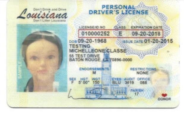 new Louisiana DL ID card design