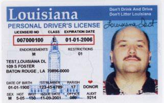 old Louisiana drivers license