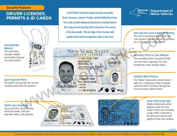 DMV Brochure on DL Features