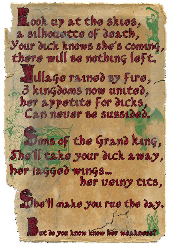 Dragon Titties Parchment Teaser