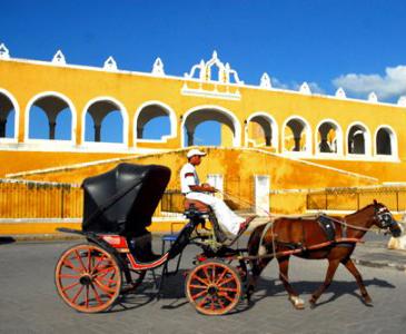 Calèche au Mexique