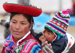 Portrait d'une famille péruvienne