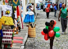 A Little Girl in the Streets of Salvador, Bahia