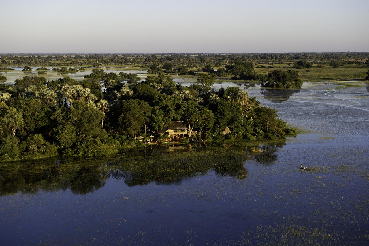 Iles du Delta de l'Okavango au Botswana