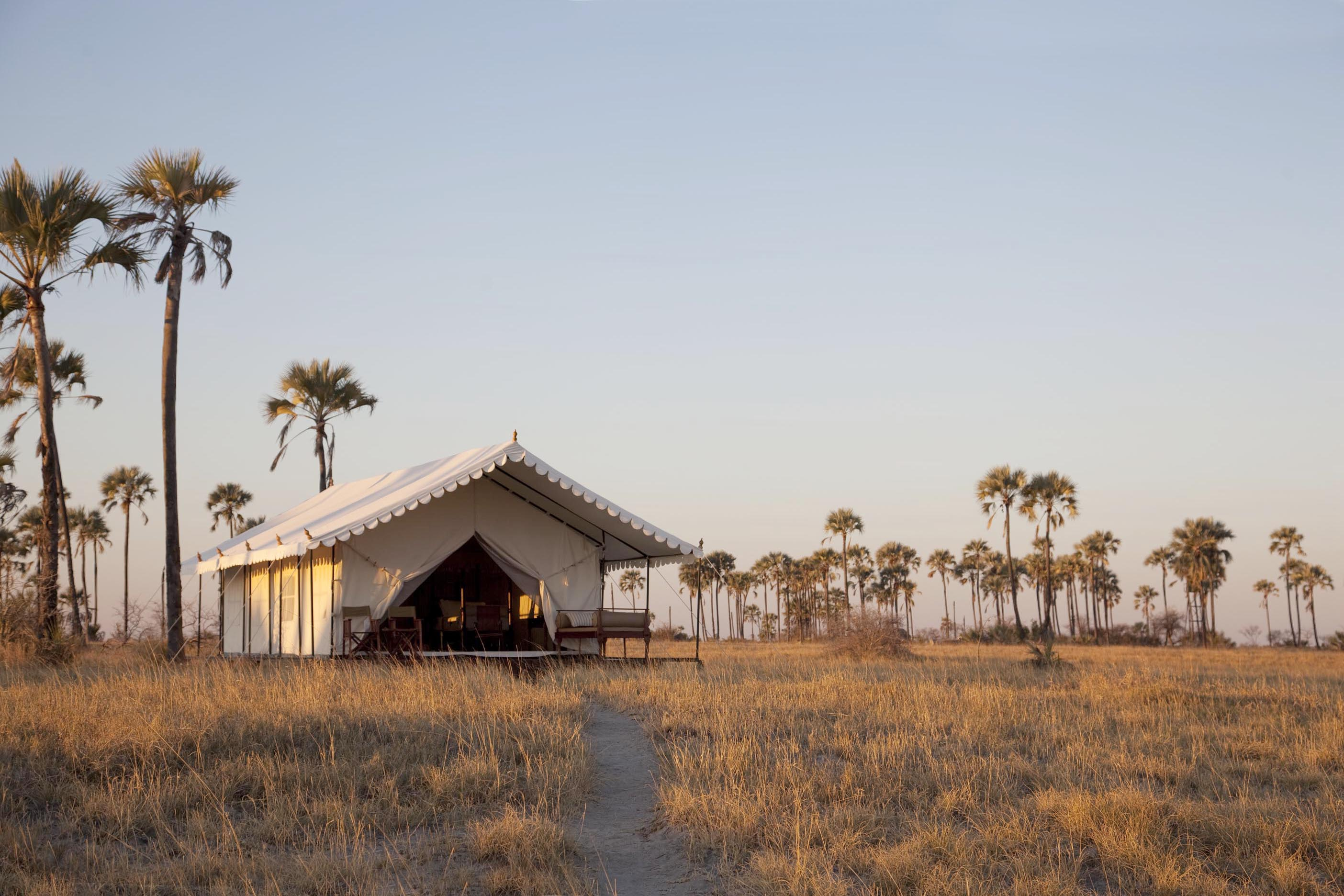 Lodge San Camp au Botswana