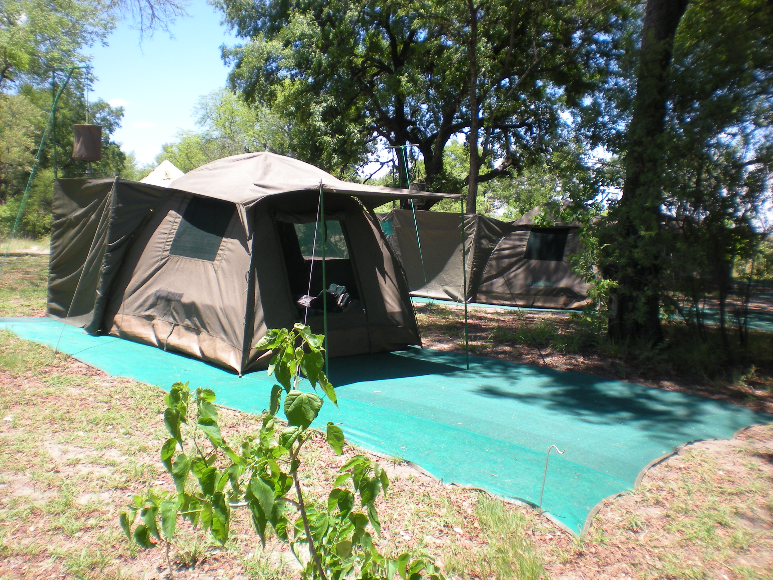 Camp mobile au Botswana