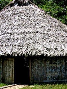 Bribri House. Costa Rica Indigenous people