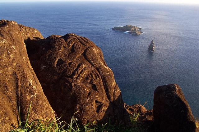 Trois îlots de l'Ile de Pâques