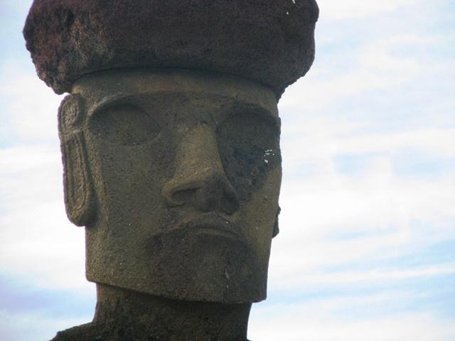 Visage Moaï particulièrement bien sculpté