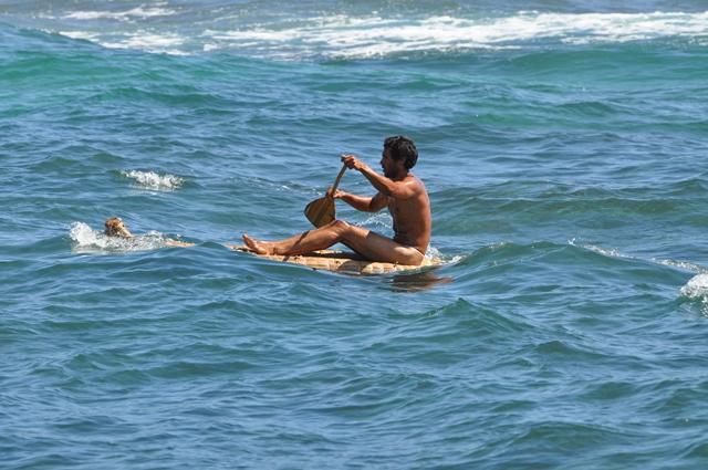 Épreuve maritime lors du Festival Tapati