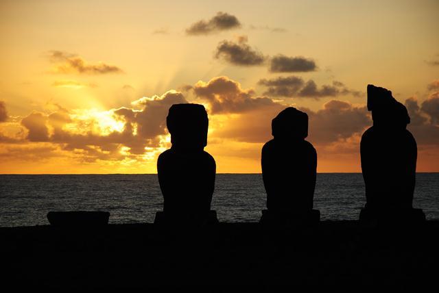 Coucher de soleil sur le site de Tahai