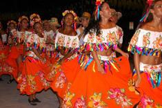 Défilé en costume local au Brésil
