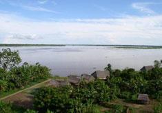 La ville d'Iquitos sur l'Amazone