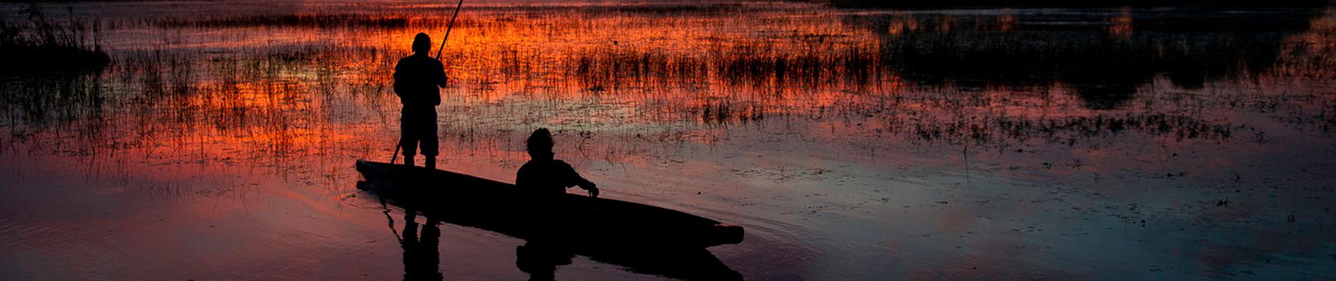 sunset-mokoro-botswana