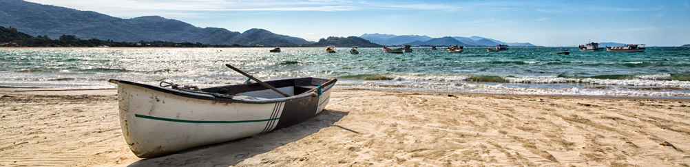 Boat on a Beach of Florianopolis