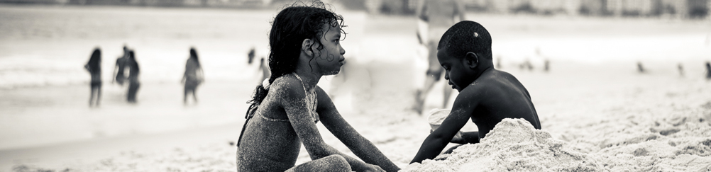 Kids Playing at Copacabana