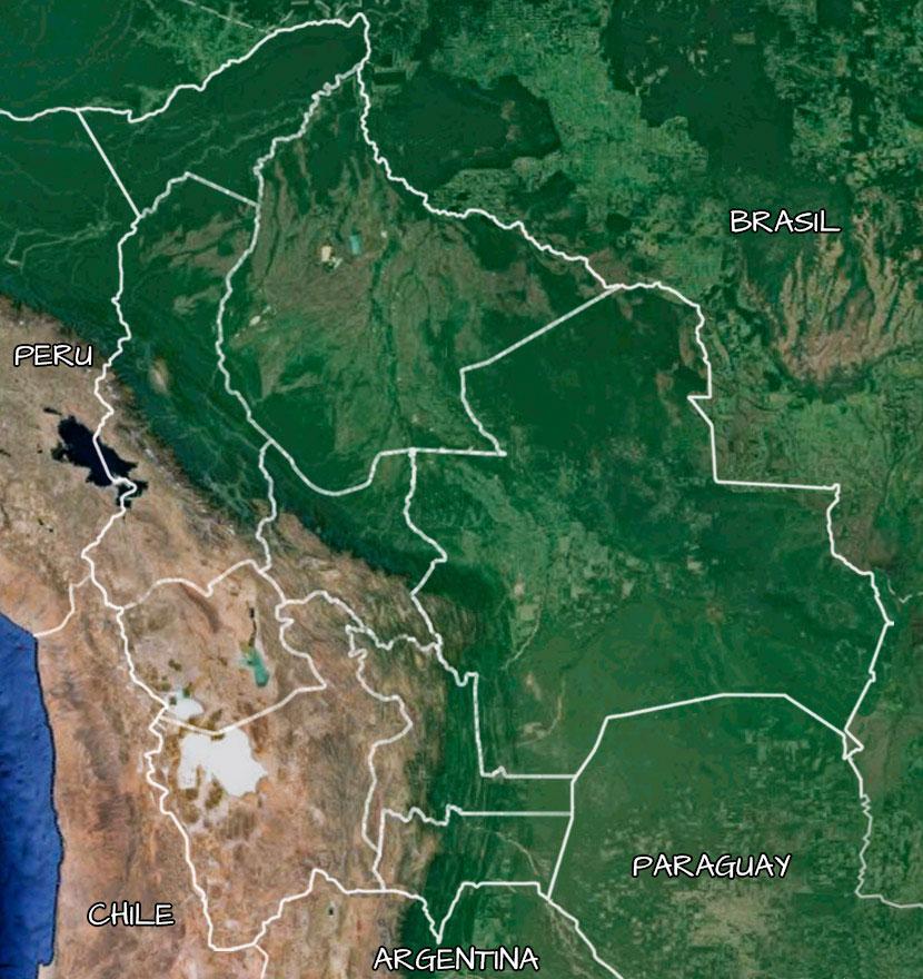 El mapa de Bolivia