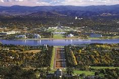Vue aérienne de Canberra