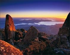 Vue sur Hobart depuis le Mont Wellington