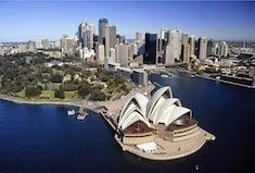 Opéra de Sydney vu du ciel
