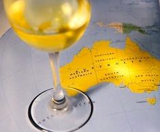 Verre de vin australien