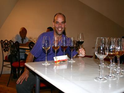 tasting wine Jerez