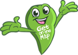 Happy get on the map logo small