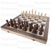 Conjunto de tabuleiro e peças para xadrez