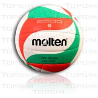 Bola de voleibol Molten em couro sintético cosido VM2500