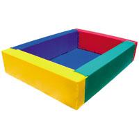 Piscina de bolas rectangular