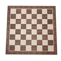 Tabuleiro para xadrez em madeira de nogueira com 55x55x15cm