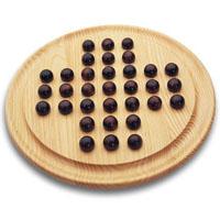 Jogo do Solitário em madeira
