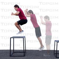 Caixa para treino pliométrico (Plyo box)