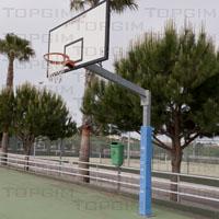 Protecção em espuma revestida a PVC para postes de basquetebol