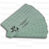 Conjunto de 100 cartões de controle
