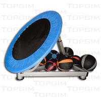 Rebounder - trampolim para ressalto de bolas medicinais