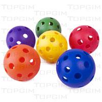 Conjunto de 6 bolas perfuradas macias