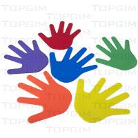 Conjunto de 6 pares de mãos em borracha (esq.ª + drta.)