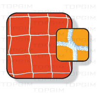 Par de Cortinas para baliza de Futsal