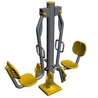Equipamento para trabalhar pernas -Balanço Duplo