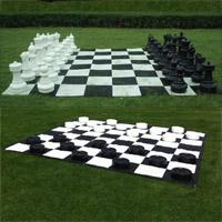 Tabuleiro em nylon para jogo de damas ou xadrez gigante