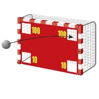 Parede em nylon para treino de remate livre ou de grande penalidade no andebol ou futsal