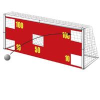 Parede em nylon para treino de remate livre ou de grande penalidade no futebol 7