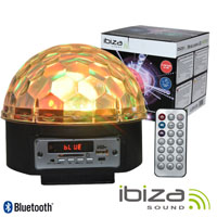 Projector Luz C/ 6 Leds RGB 3w Comando BT/SD IBIZA