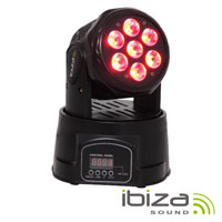Projector MOVING HEAD Mini Leds 10w RGBW DMX MIC IBIZA