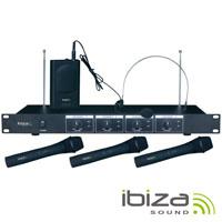 Central Microfone S/ Fios 4 Canais 201.1-207.5Mhz IBIZA