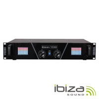 "Amplificador Áudio 19"" 2x240W Display Led Matrix IBIZA"