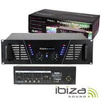 """Amplificador Áudio 19"""" 2x800W Preto IBIZA"""