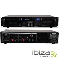 """Amplificador Áudio 19"""" 2x240W USB/BT IBIZA"""