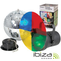 Bola de espelhos Ø20cm C/Motor e Projector Par36 IBIZA
